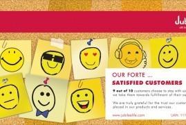 Satisfied Customers - Print Ad - Jubilee Life insurance