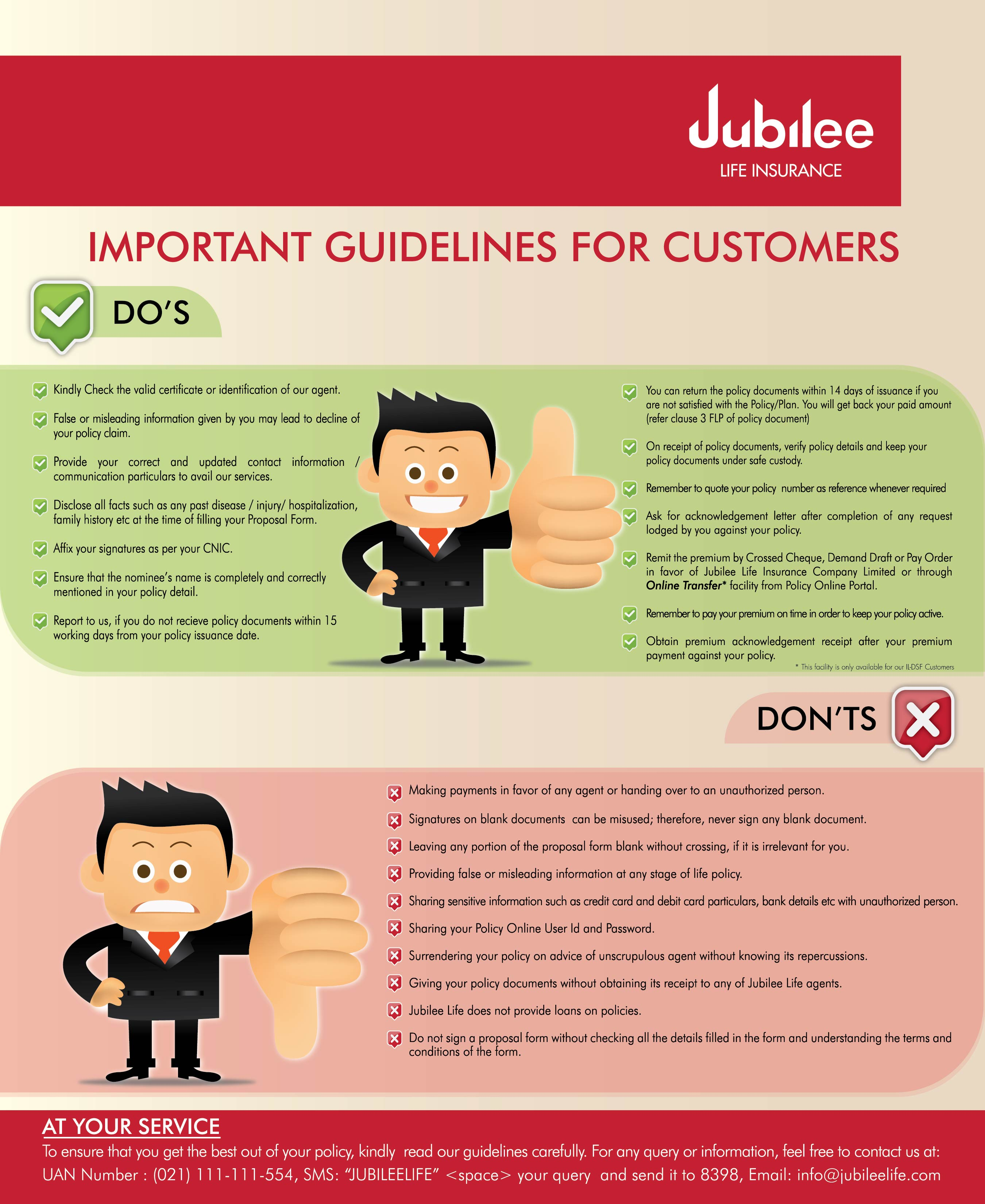 Poster Dos And Donts Eng Jpg Jubilee Life
